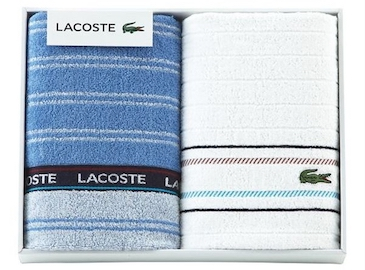 LACOSTEのタオルギフト